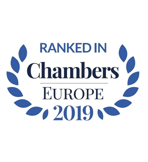 Ranked in Chambers Europe 2019